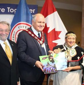 Today Markham Mayor Frank Scarpitti, joined with Regional and Council Members to sign Partnership Accord, with Eabametoong First Nation Community.