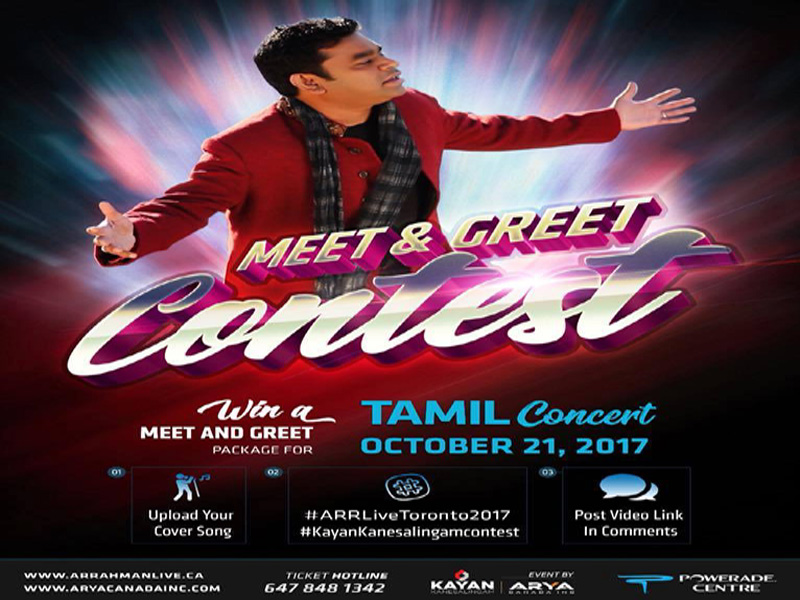 Legend of World Music and Creator A.R. Rahman is here in Toronto