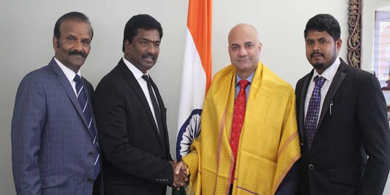 Meeting with Mr. Dinesh Bhatia, who is the Consul General of India in Toronto, Canada